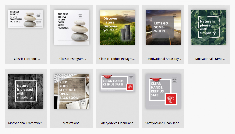 Make your own digital posts from our online templates - Choose